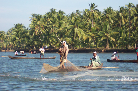 Fishermen near Coconut Island.