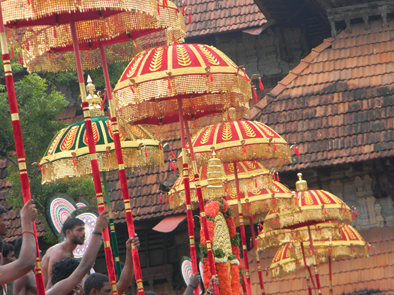 Temple festival near Coconut Island, Thrissur